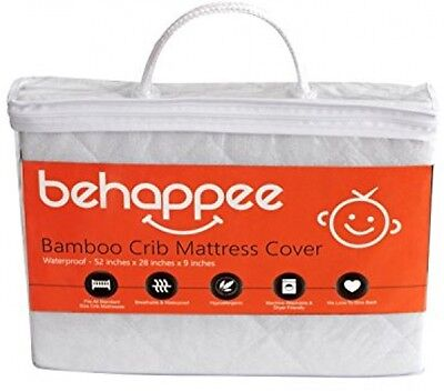 Mattress Protector Pad Soft Bamboo Quilted Crib Waterproof Breathable Sheet Baby