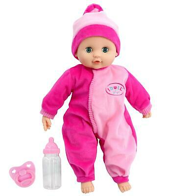 Baby Doll with Sounds New Born Soft Bodied Doll & Beaker Girls Pretend Play Toy