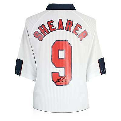 Alan Shearer Signed England 1998 Shirt | Autographed Soccer Jersey
