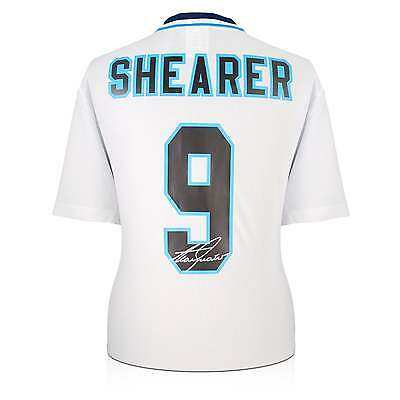 Alan Shearer Signed England Euro 1996 Football Shirt Autographed Soccer Jersey
