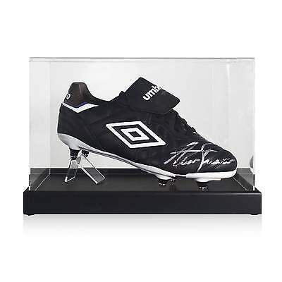 Alan Shearer Signed Football Boot In Display Case Soccer Shoe Autographed Cleat