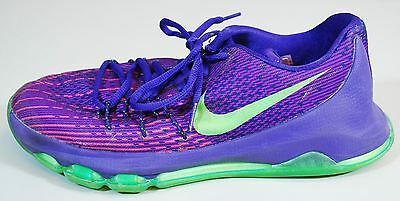 cheaper aee7c 53fe4 NIKE KD 8 - Kevin Durant Purple, Green   Orange Sneaker Shoes - Kids Size
