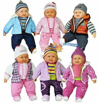 """20"""" Lifelike Size Large Happy Face Soft Bodied Baby Doll Girl Boy Play Toy"""