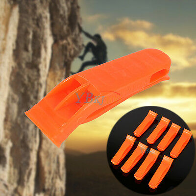 8 x Outdoor Camping Hiking Rescue Emergency Survival Marine Safety Whistle Clip