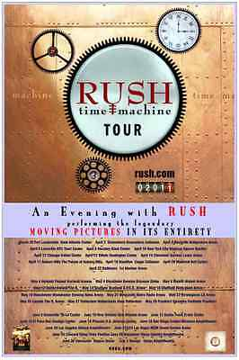 Rush 2011  box office CONCERT POSTER World Tour