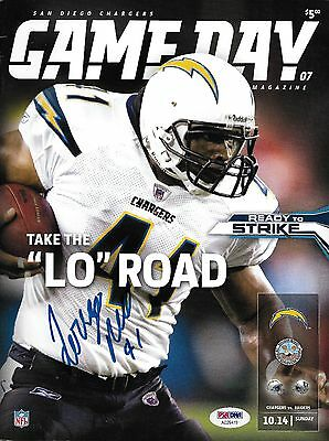 Lorenzo Neal Signed 2007 Chargers Football Game Program PSA/DNA COA 41 Autograph