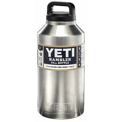 Yeti Rambler 64oz. Stainless Steel Bottle YRAMB64 NEW - Free Shipping in the US