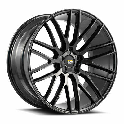 Mercedes 19 In 63 Black Wheels Rims Staggerd Set4 Fits E350 E500