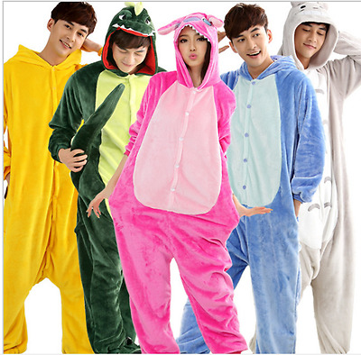 New Onesie unisex Adult Animal Onesies Onsie Kigurumi Pyjamas Sleepwear Dress