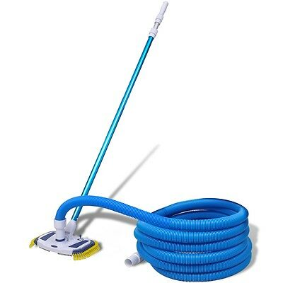 #bNew Swimming Pool Spa Cleaning Tool Set Cleaning Vacuum Sweep w/ Pole and Hose