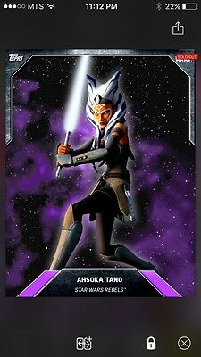 Topps Star Wars Digital Card Trader Preview Ahsoka Tano Base Variant