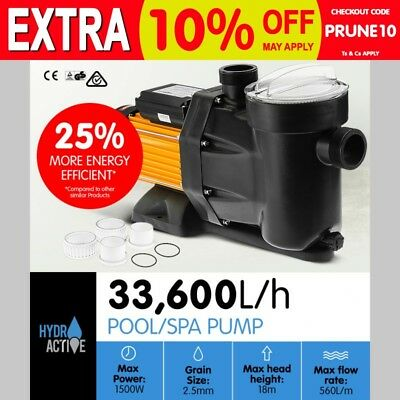 1500W Swimming Pool And Spa Electric Water Pump Self Priming 33,600L/h