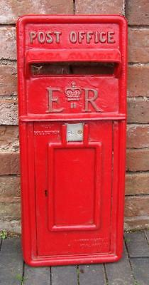 Replica Royal Mail ER Red Postbox Letter Box with Keys - FRONT ONLY  Cast Iron