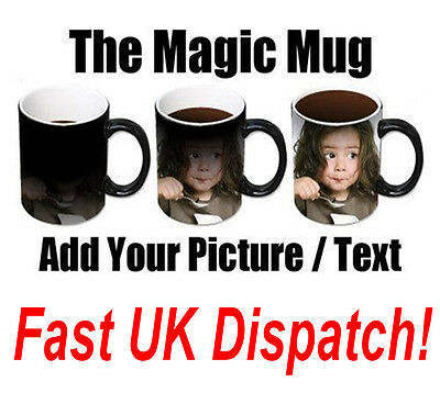 Personalised Heat Colour Changing Magic Mug - Great Fathers Day Gift / Birthday