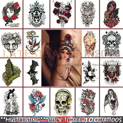 Arm Tattoos Stickers Fake Body Waterproof 3D Removable Temporary Body Art  UK