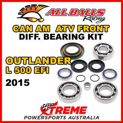 25-2069 Can Am Outlander L 500 EFI 2015 ATV Front Differential Bearing Kit