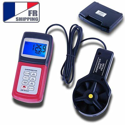 FR Risepro AM4836V Anemometer Air Flow Wind Speed Beaufort Scale Meter Velocity