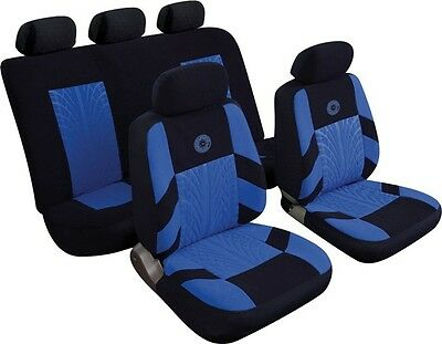 Cosmos Precision 14401 Full Set of Car Seat Covers - Blue Rezistanz New