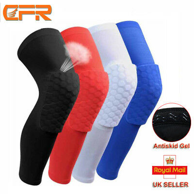 UK New Honeycom Compression Sleeve Knee Support Brace Knee Pads Basketball-eu-2