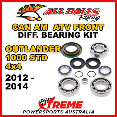 25-2069 Can Am Outlander 1000 STD 4x4 2012-14 ATV Front Differential Bearing Kit