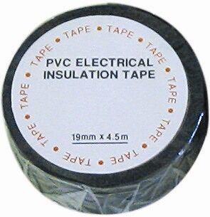 Pearl PPT01 Insulating tape black 19mm x20m x 10 Pearl Consumables New