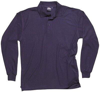 Long Sleeved Polo Shirt - Navy - Large Portwest B212NARL New