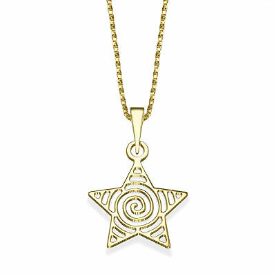 14K Yellow Gold Lambkins Pendant With Necklace