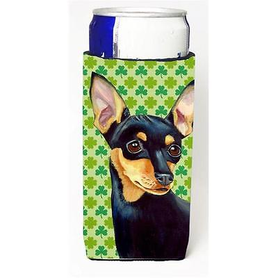 Min Pin St. Patricks Day Shamrock Portrait Michelob Ultra bottle sleeves for ...