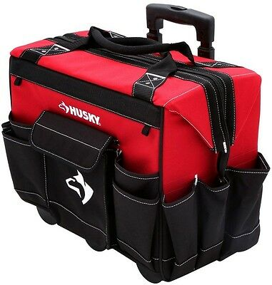 18 in. Rolling Mobile Heavy Duty Dual-Zipper Tool Bag Storage Organizer Tote New