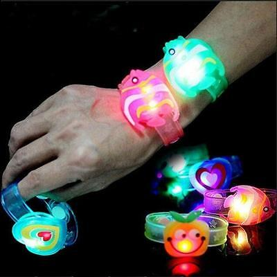 2pcs Toy Supplies Gift Flash Light Led Kids Wrist Watch Adjustable Bracelet 2016