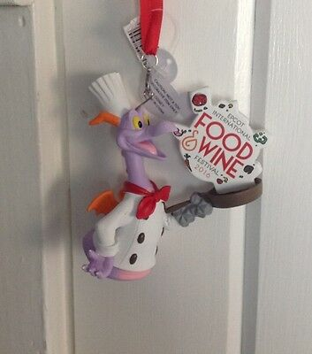 Disney Epcot 2016 Food & Wine Festival Logo Figment Ornament - New