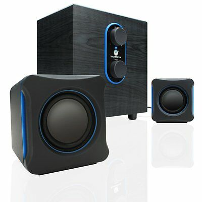 GOgroove LBr 2.1 USB Computer Speakers with Bass Subwoofer