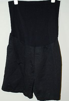 Motherhood Maternity Full Stretch Belly Panel - Black Chino Shorts - Size Large