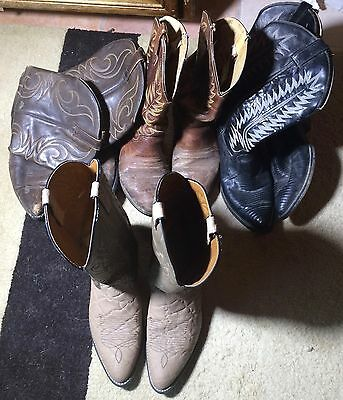 Men's Wholesale Lot 4 Used Leather Western Cowboy Boots