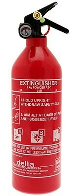 ABC Dry Powder Fire Extinguisher with Gauge - 1kg Delta 1144A Top Quality New
