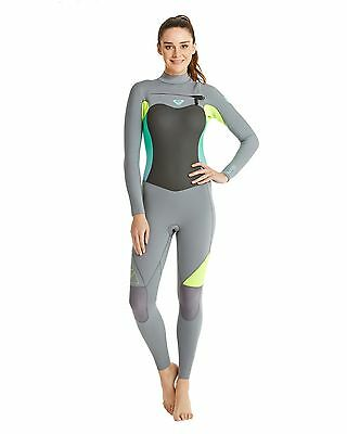 NEW ROXY™  Womens Syncro 3/2mm GBS Chest Zip Steamer Wetsuit Womens Surf