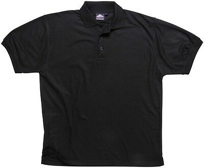 895 Black Naples Polo Shirt Xl B210BKRXL Portwest New