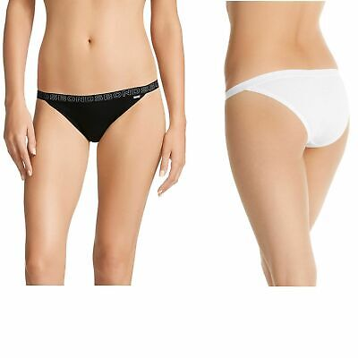 Bonds Womens Ladies Black White Hipster String Bikini Underwear Size 8-16 Wx37Y