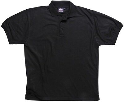 775 Black Naples Polo Shirt 5xl B210BKR5XL Portwest New