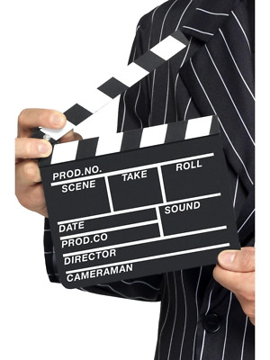 Hollywood Style Clapper Board Movie Making Fancy Dress Costume Accessory