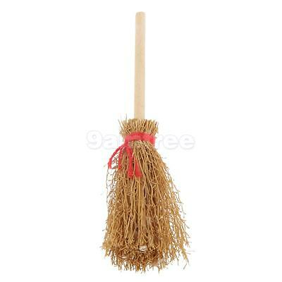 1:12 Scale Wooden Cleaning Broom Doll House Miniature Fairy Garden Accessory