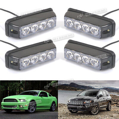 4X 4LED Flashing Light 12/24v Lightbar Truck Recovery Strobe Amber beacon