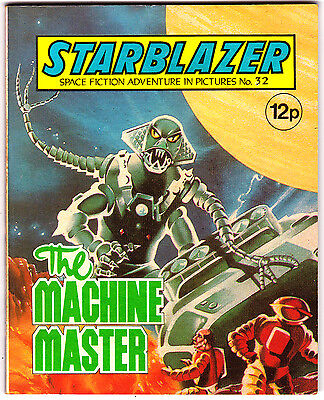 Starblazer #32 , Space Fiction Adventure , Sept 1980 , DC Thompson , VERY FINE