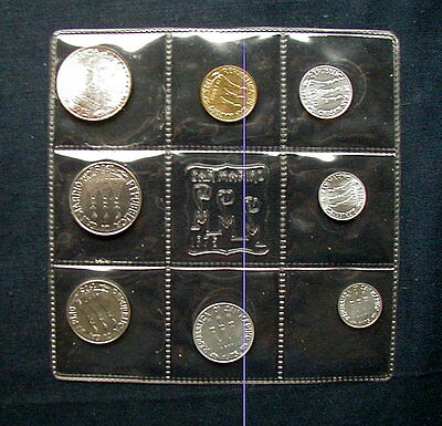 1975 San Marino (Italy) complete official set coins with silver UNC