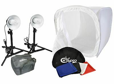 Ex-Pro 40cm Portable Photo Studio Lighting Kit With Tent Cube Lights, Carry Bag