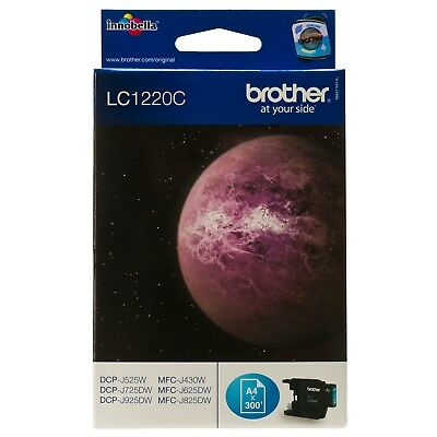 ukVATincl LC-1220C LC1220C CYAN BROTHER NEW GENUINE ORIGINAL INK CARTRIDGE