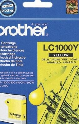 ukVATincl LC-1000Y LC1000Y YELLOW BROTHER GENUINE ORIGINAL INK CARTRIDGE
