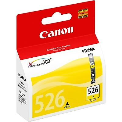 ukVATincl CLI-526Y CLI526Y YELLOW CANON NEW GENUINE ORIGINAL INK CARTRIDGE