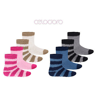 4 Paar Kinder Kuschelsocken Wintersocken Bettsocken Softsocks Soft Gr 23-38