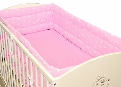 NURSERY  BUMPER  420cm LONG ALL ROUND BUMPER TO FIT BABY COT BED
